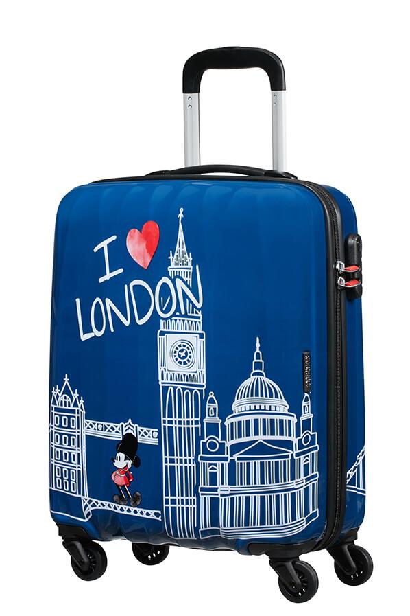 Trolley - Mala de Cabine 55cm c/ 4 Rodas Mickey em Londres - Disney | American Tourister