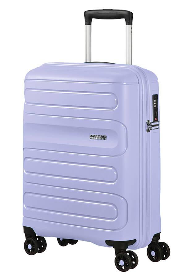 Mala de Cabine 55cm c/ 4 Rodas Azul Pastel - Sunside | American Tourister