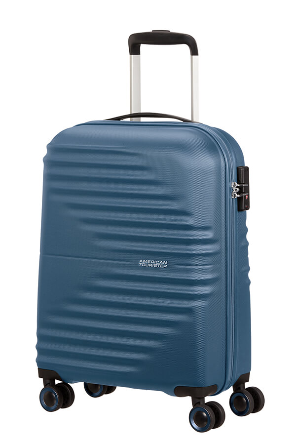 Mala de Cabine 55cm c/ 4 Rodas Azul Marinho - Wavetwister   American Tourister
