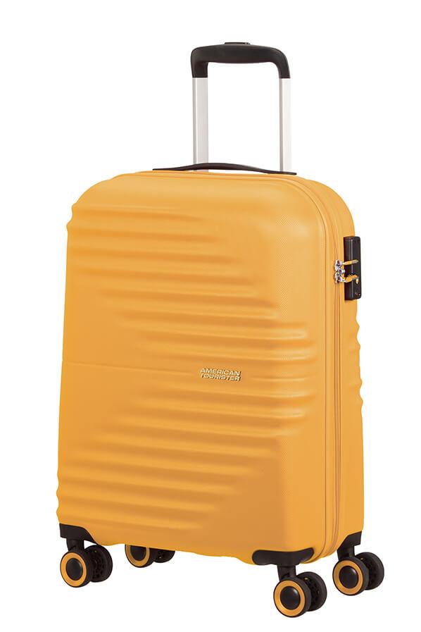 Mala de Cabine 55cm c/ 4 Rodas Amarela - WaveTwister | American Tourister