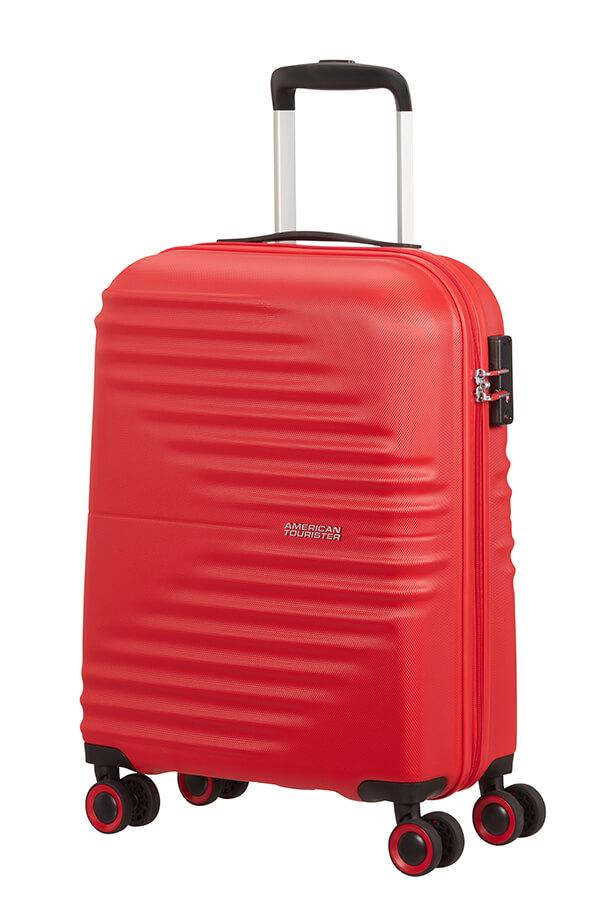 Mala de Cabine 55cm c/ 4 Rodas Vermelha - WaveTwister | American Tourister