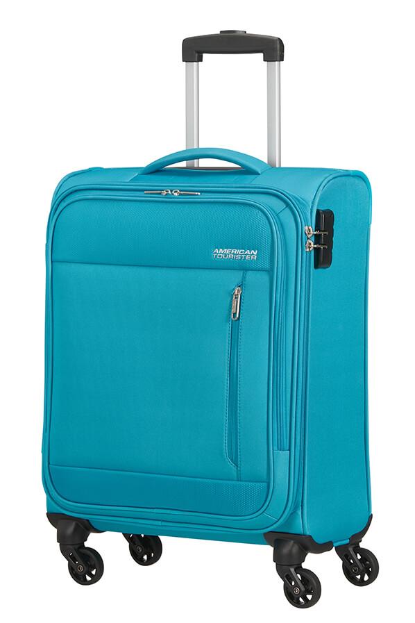 Mala de Cabine 55cm c/ 4 Rodas Azul Desportivo - Heat Wave | American Tourister