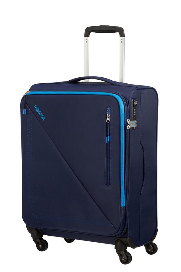 Mala de Cabine Superleve 55cm c/ 4 Rodas Marinho/Azul - Lite Volt   American Tourister