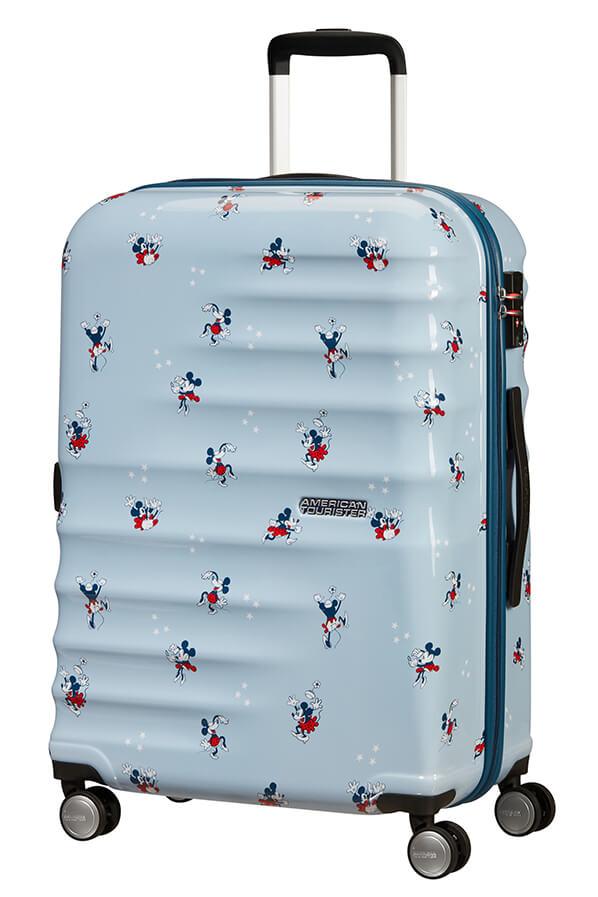 Mala de Viagem Média 67cm c/ 4 Rodas Minnie Darling Azul - Wavebreaker Disney | American Tourister