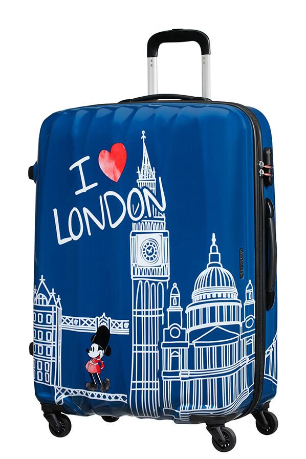 Mala de Viagem Grande 75cm c/ 4 Rodas Mickey em Londres - Disney Legends | American Tourister