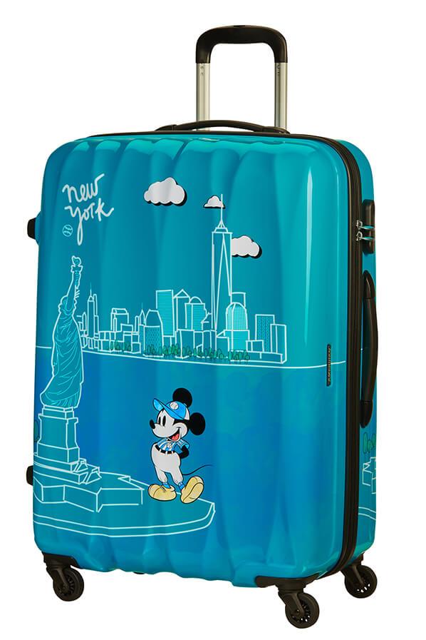 Mala de Viagem Grande 75cm c/ 4 Rodas Mickey em Nova Iorque - Disney Legends   American Tourister