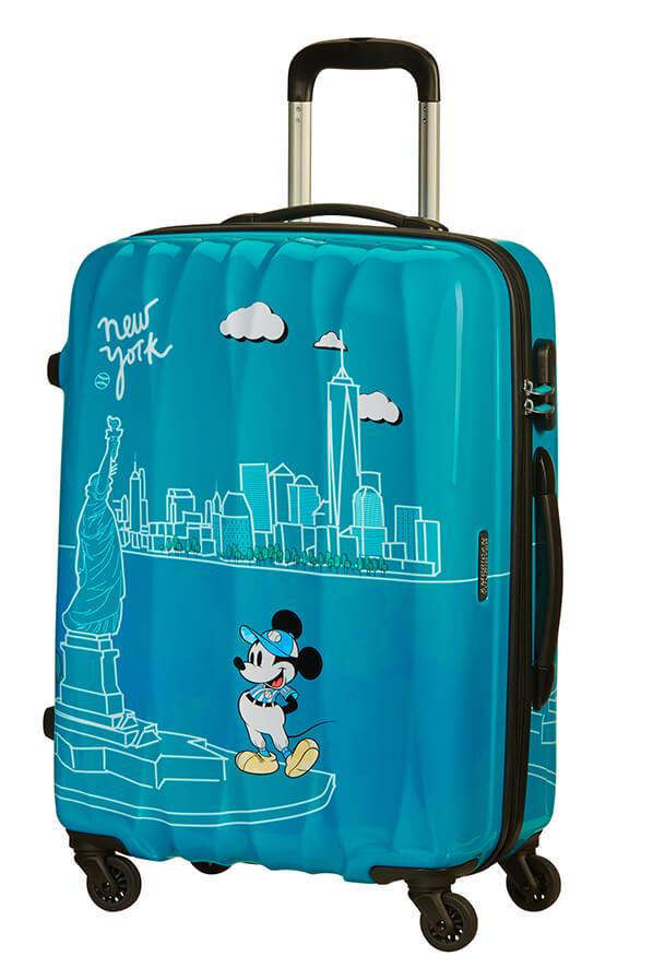 Mala de Viagem Média 65cm c/ 4 Rodas Mickey em Nova Iorque - Disney Legends | American Tourister