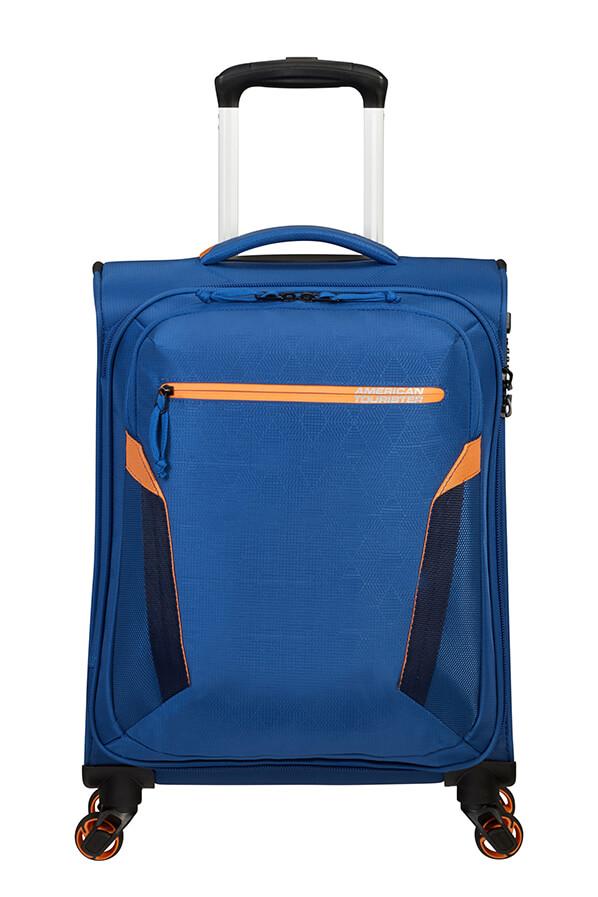 Mala de Cabine Ecológica 55cm c/ 4 Rodas Azul Marinho - AT Eco Spin   American Tourister