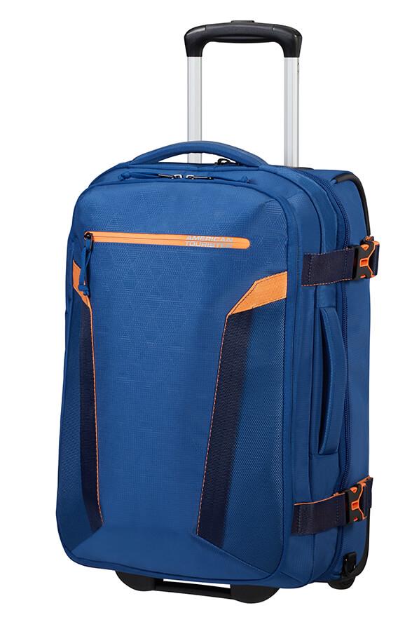 Saco/Mochila de Viagem Ecológico 55cm c/ 2 Rodas Azul Marinho - AT Eco Spin | American Tourister
