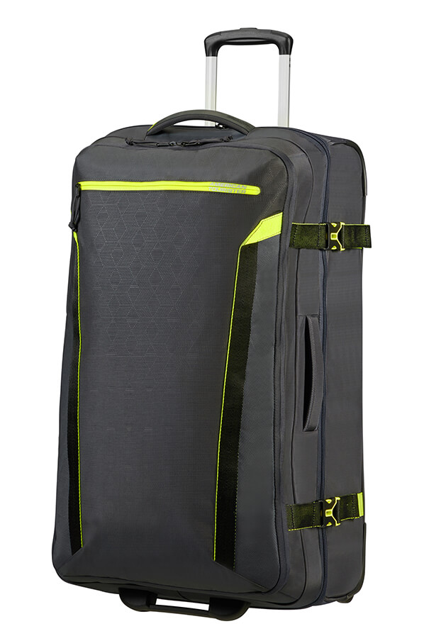 Saco de Viagem Grande Ecológico 79cm c/ 2 Rodas Atlas Cinza - AT Eco Spin | American Tourister
