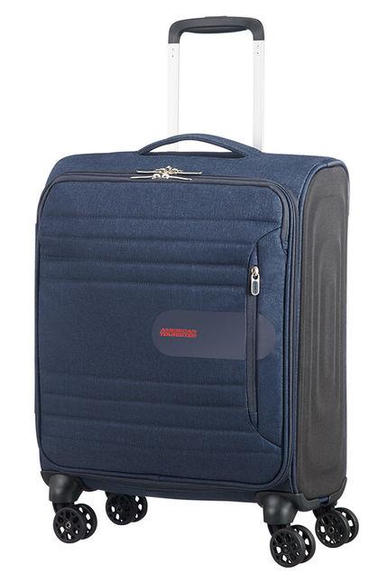 Mala Cabine 55cm c/ 4 Rodas Azul Marinho | American Tourister