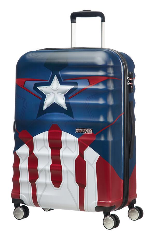 Mala de Viagem Média 67cm c/ 4 Rodas Marvel iCapitão América | American Tourister