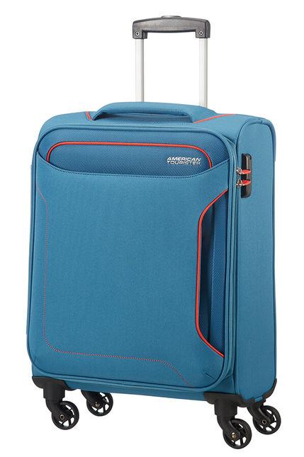 Mala de Cabine 55cm c/ 4 Rodas Azul Ganga - Holiday Heat   American Tourister
