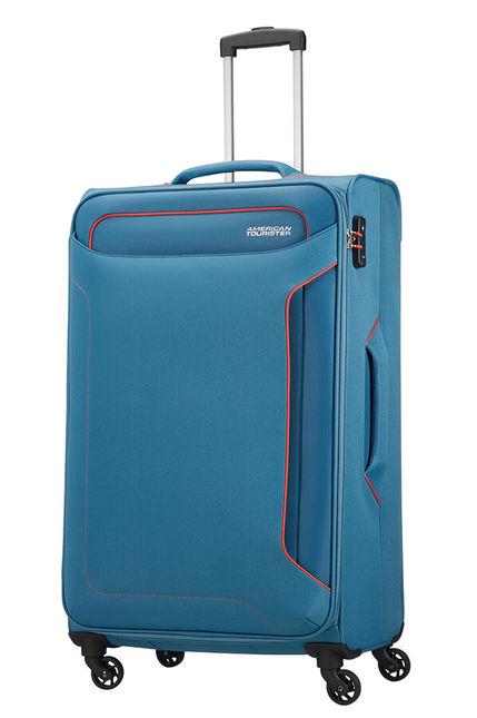 Trolley - Mala de Viagem Grande 79cm c/ 4 Rodas Azul Ganga - Holiday Heat   American Tourister