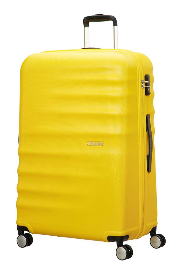 Trolley - Mala de Viagem Grande 77cm c/ 4 Rodas Amarelo - Wavebreaker | American Tourister