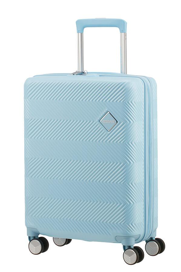 Trolley - Mala de Cabine 55cm c/ 4 Rodas Expansível Azul Menta - Flylife   American Tourister