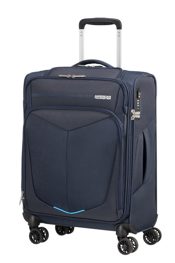 Trolley - Mala de Cabine 55cm c/4 Rodas c/ Entrada USB Azul - Summerfunk   American Tourister