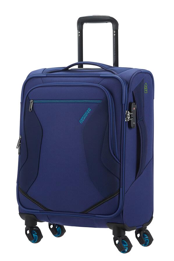 Mala de Cabine 55cm c/ 4 Rodas Azul - Eco Wanderer | American Tourister
