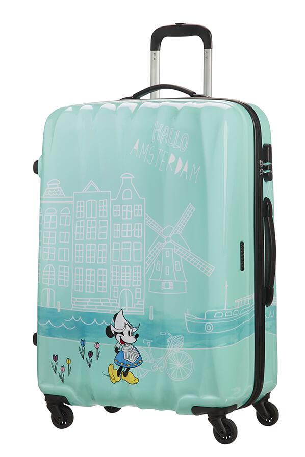 Mala de Viagem Grande 75cm 4 Rodas Minnie em Amesterdão - Disney Legends | American Tourister