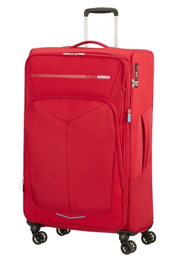Mala de Viagem Grande 79cm c/ 4 Rodas Expansível Vermelha - Summerfunk | American Tourister