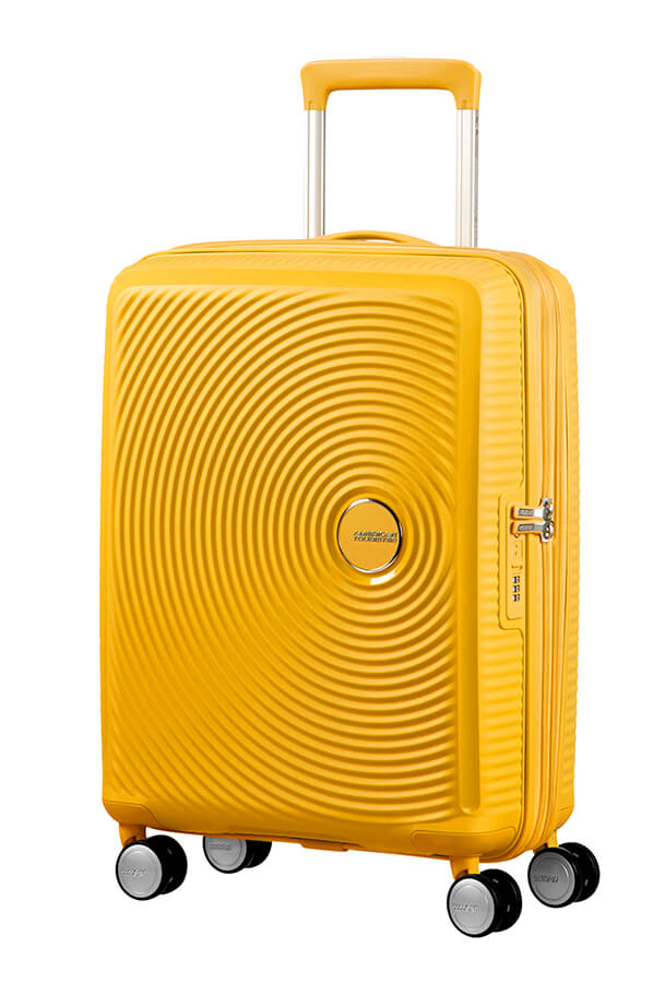 Bagagem de Cabine 55cm Expansível Golden Yellow - Soundbox | American Tourister